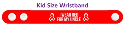 i wear red for my uncle aids hiv awareness ribbon wristband