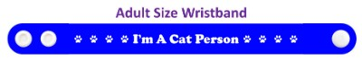 im a cat person blue paw prints wristband