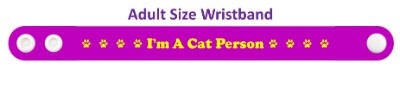 im a cat person paw prints purple wristband