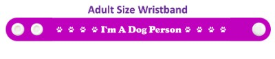 im a dog person purple paw print wristband