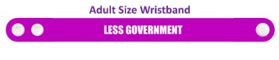 less government purple wristband