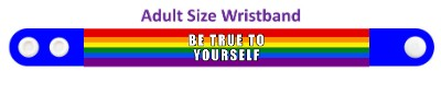 lgbt be true to yourself blue rainbow wristband