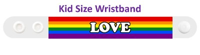 lgbt love white rainbow wristband