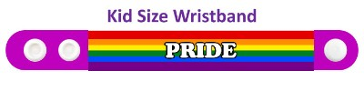 lgbt pride rainbow purple wristband