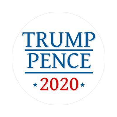lines trump pence 2020 white sticker