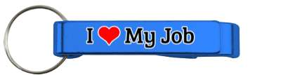 love i heart my job stickers, magnet