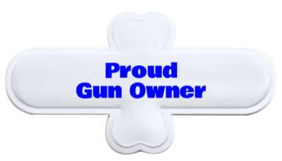 proud gun owner blue stickers, magnet