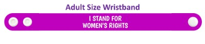 purple i stand for womens rights wristband