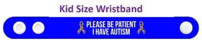 puzzle awareness ribbon please be patient i have autism wristband