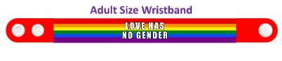 rainbow lgbt love has no gender red wristband