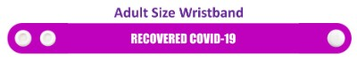 recovered covid-19 purple wristband