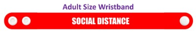 red social distance wristband