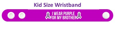 ribbon i wear purple for my brother domestic violence awareness wristband