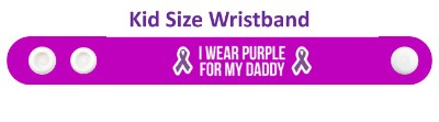 ribbon i wear purple for my daddy domestic violence awareness wristband