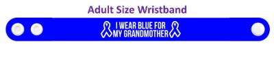 ribbons i wear blue for my grandmother colon cancer awareness wristband