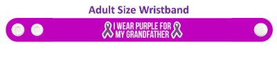 ribbons i wear purple for my grandfather domestic violence awareness wristb