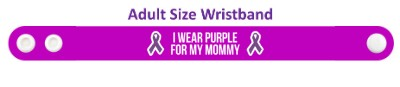 ribbons i wear purple for my mommy domestic violence awareness wristband