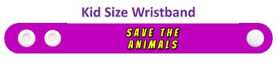 save the animals purple wristband