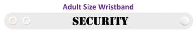 security white stencil wristband