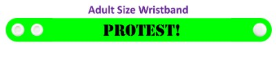 stencil protest green wristband