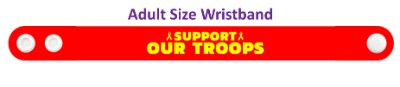 support our troops yellow awareness ribbon wristband