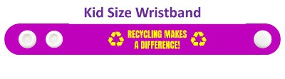 symbols purple recycling makes a difference wristband