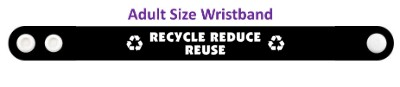 symbols recycle reduce reuse black wristband