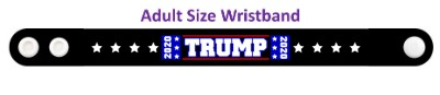 trump 2020 eight white stars black wristband