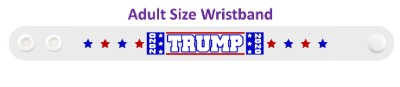 trump 2020 white eight stars blue red wristband