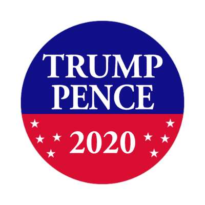 trump pence 2020 red blue stars sticker