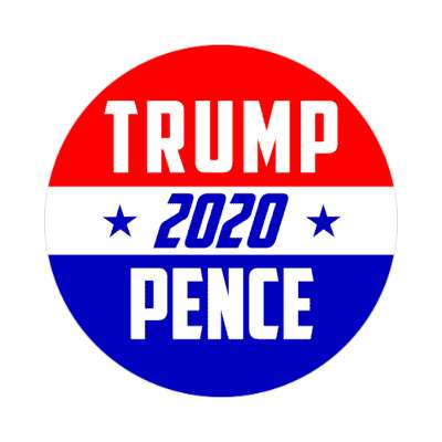 trump pence 2020 stars red white blue italic sticker