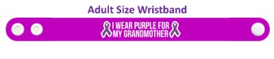 two ribbons i wear purple for my grandmother alzheimers disease awareness w