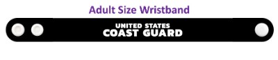 united states coast guard black wristband