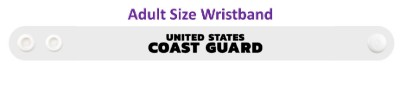 united states coast guard white wristband