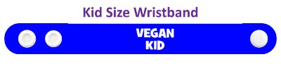 vegan kid blue wristband