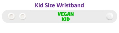 vegan kid white wristband