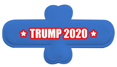 vote trump 2020 blue two stars white phone stand