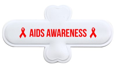 white aids awareness red hiv awareness ribbons stickers, magnet