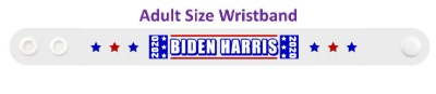 white biden harris 2020 six stars wristband