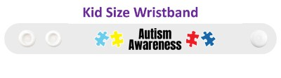 white puzzle autism awareness wristband