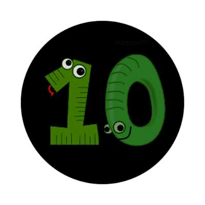 10 green snake and wheel cartoons sticker