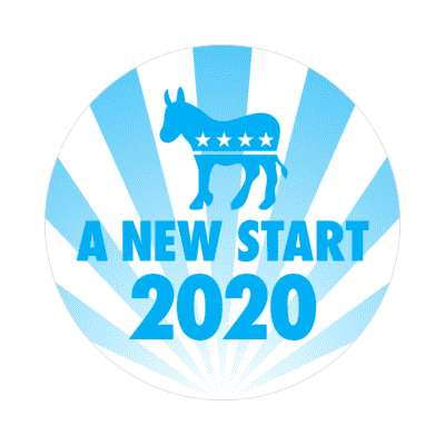 a new start democrat sticker