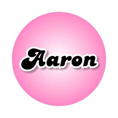 aaron female name pink sticker
