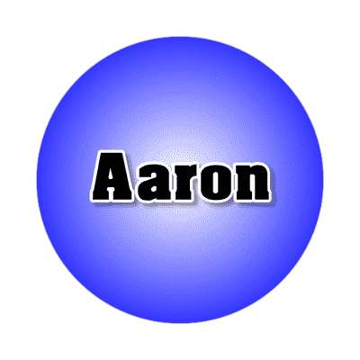 aaron male name blue sticker