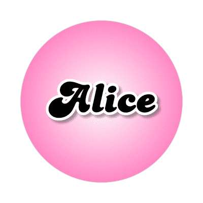 alice female name pink sticker