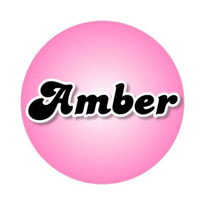 amber female name pink sticker