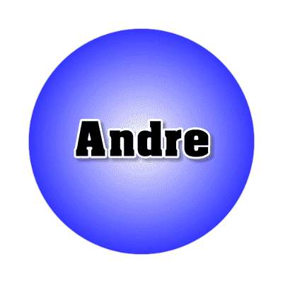 andre male name blue sticker