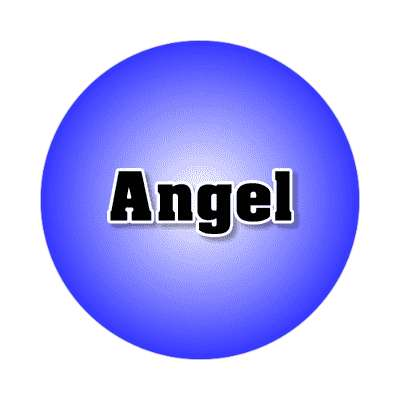 angel male name blue sticker