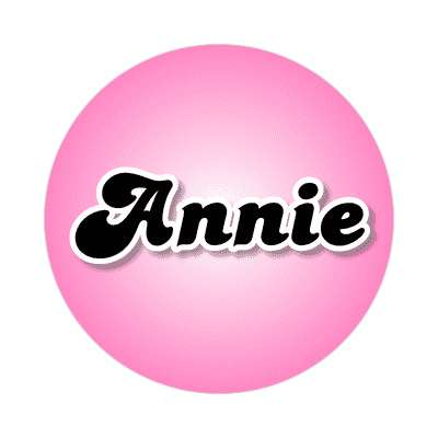 annie female name pink sticker
