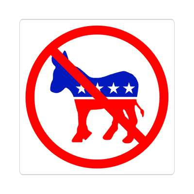 anti democrat party sticker